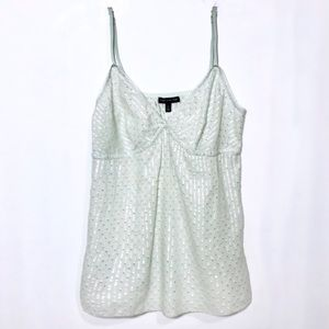 The Limited Cotton Sparkle Camisole - Green Sz Med